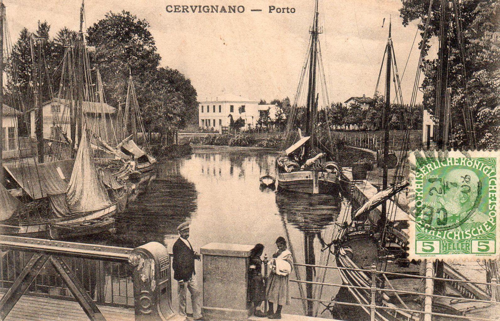 Il porto, dal nuovo ponte di Cervignano costruito nel 1906