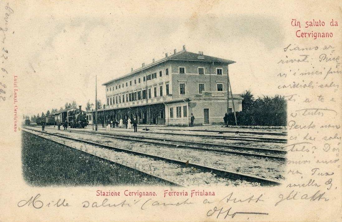 Stazione ferroviaria Cervignano 1902