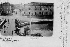 Il vecchio ponte in pietra costruito nel 1780