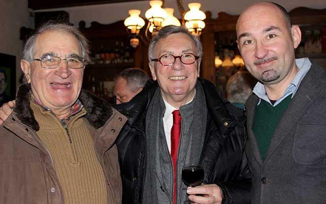 Da sinistra l'ex Sindaco Alcide Gratton, il console onorario della Republica Ceca Paolo Petiziol, e Michele Tomaselli.