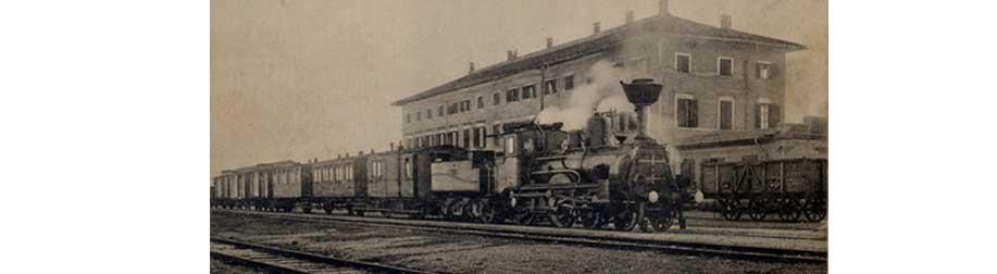 La stazione ferroviaria di Cervignano ad inizi del 900